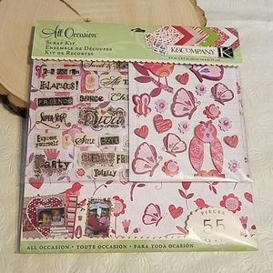 K & Company All Occasion Scrapbook Kit 55 Pieces